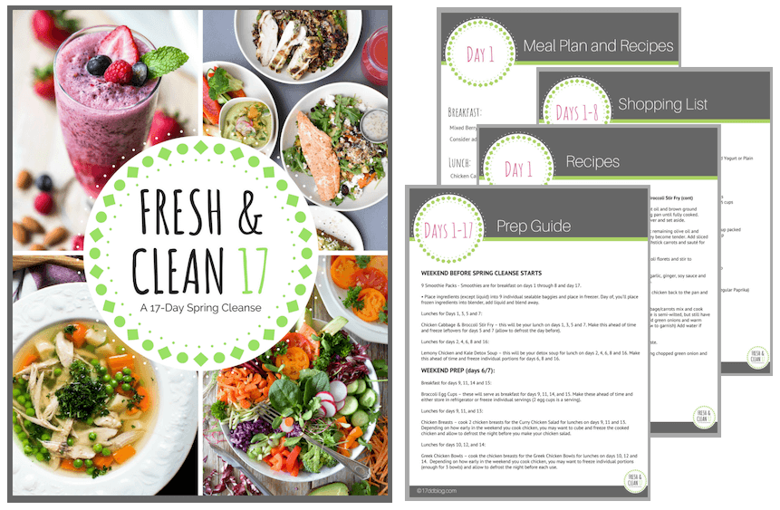 Fresh & Clean 17 Spring Cleanse for the 17 Day Diet